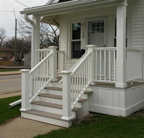 wood front porch railing designs steps 2018 including