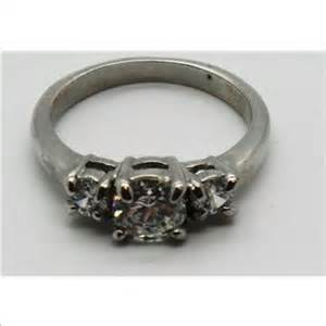 3 gram size 7 75 10k white gold ring with clear costume