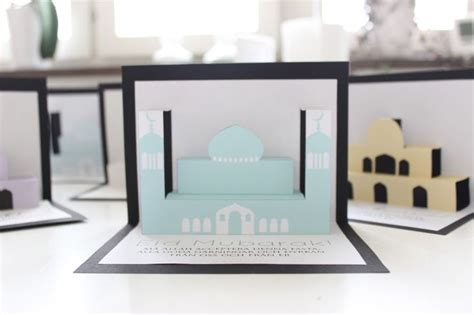 mosque pledge cards template ramadan eid crafts pop up mosque free printable