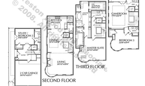4 story homes plans home plan
