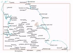 Map Of Northern England by Northern England Postcode District Wall Map 04 Xyz