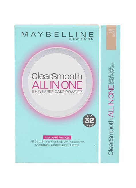 Bedak Maybelline Clear Smooth All In One Light maybelline clear smooth all in one ref 01 light pcs 9g