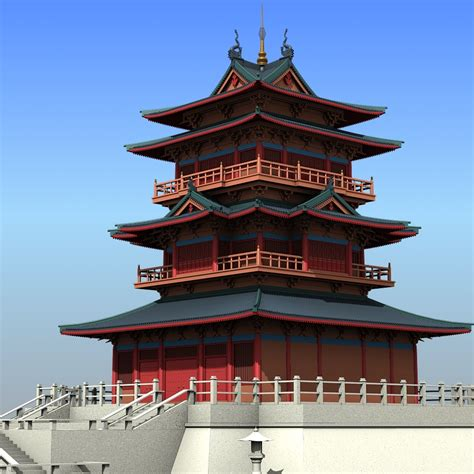 architect in chinese chinese architecture 01 3d model