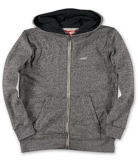 Hoodie Zipper Vans Grey vans boys basics charcoal zip up hoodie