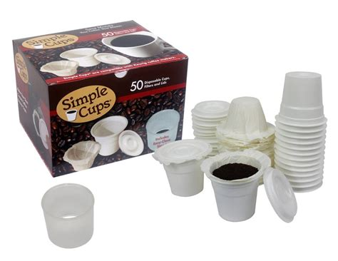 Make Your Own Keurig Paper Filters - simple cup disposable k cup lids cups filters 50 ct set