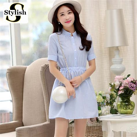 Collar Bow Sleeveless Top Whiteblue 13649 blue shirt reviews shopping blue