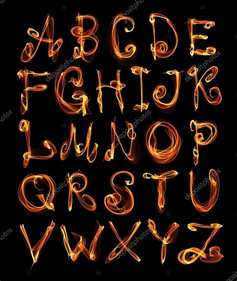 fire pattern font fire flame font stock photo 169 w1ndkh 14695207