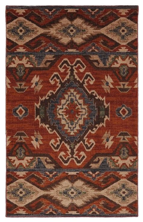 Rustic Area Rugs Southwestern Lodge Woolrich 9 6 Quot X12 11 Quot Rectangle Charcoal Area Rug Rustic Area Rugs
