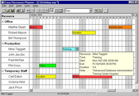 download easy resource planner from files32 desktop