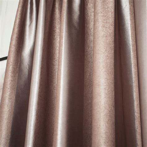 soundproof curtain lining dark coffee color polyester soundproof privacy blackout lining
