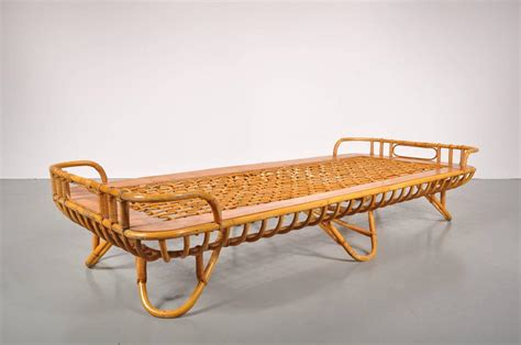 rattan daybed rattan daybed by roh 233 netherlands circa 1950 at 1stdibs