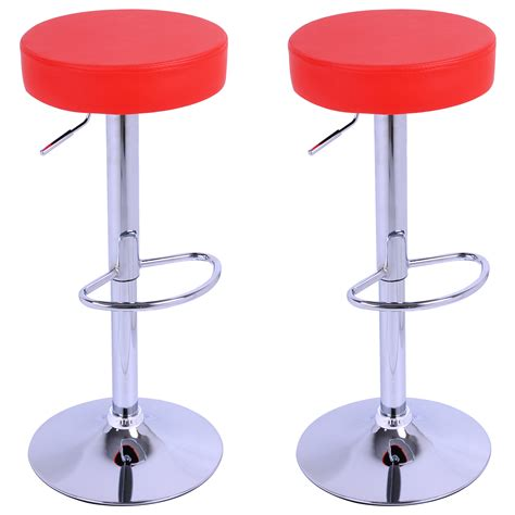 Leather Stools Kitchen by Bar Stools Set Of 2 Breakfast Kitchen Swivel Stool Chairs