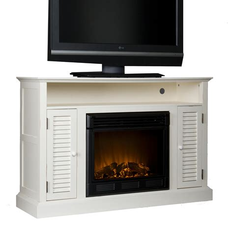 white electric fireplace media console sei antebellum media console with electric fireplace antique white media