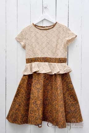 Dress Friska friska peplum sogan batik dress batik batik dress