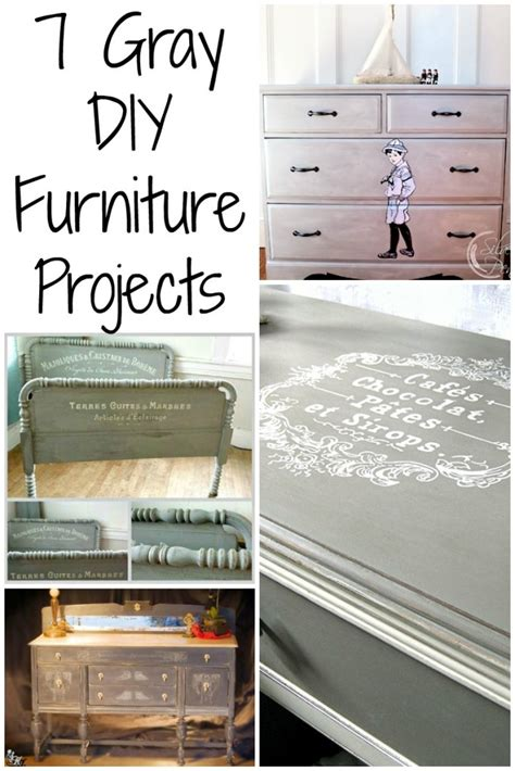 diy painted furniture 7 painted gray furniture diy projects the graphics