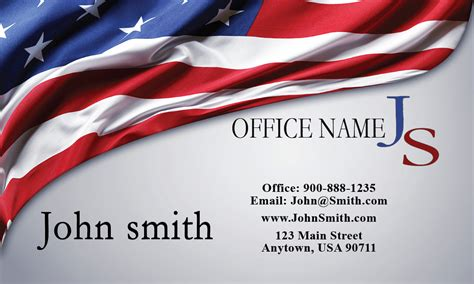 Free Us Army Business Card Templates by Lawyer Business Card With American Flag Design