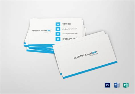 Basic Business Card Template Word by 25 Free Business Cards Psd Vector Eps Png Format