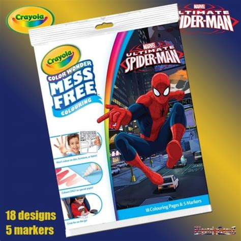 crayola giant coloring pages ultimate spider man crayola ultimate spider man color wonder