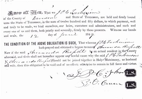 Davidson County Tn Marriage Records So Many Ancestors 52 Ancestors 13 Joseph Tarkington