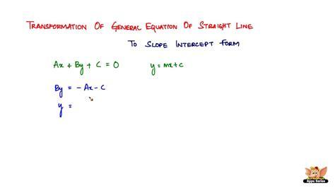 Line Equation Forms by General Form Equation Of A Line Tessshebaylo