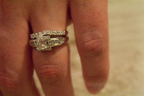 princess cut engagement rings on finger ipunya