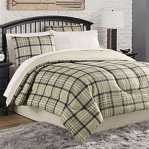 bed bath and beyond norfolk norfolk plaid 8 piece comforter set bed bath beyond