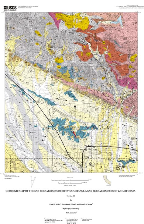 geologic map san jose quadrangle geologic map of the san bernardino 7 5 quadrangle