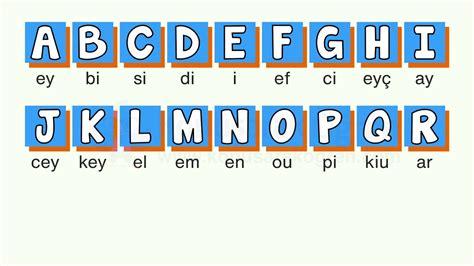ingilizce harfler alfabeler okunusu sesli konusarak