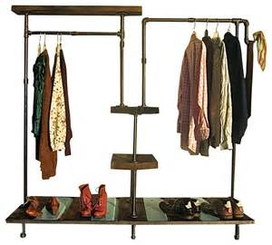 his and hers garment rack industrial clothes racks