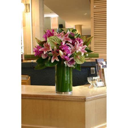 reception desk 2 corporate flowers