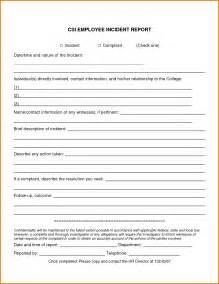 Employee Incident Report Templates 7 employee incident report template expense report