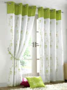 Curtains Green And White Lime Green White Eyelet Lined Voile Curtains