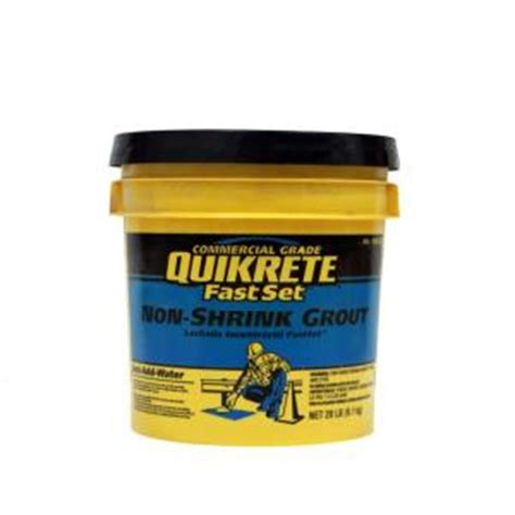 quikrete 20 lb fastset non shrink grout 158520 the home