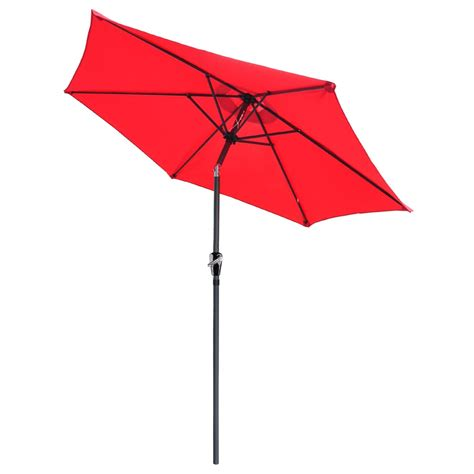 Patio Sun Umbrellas 8 Ft Patio Umbrella Aluminum Crank Tilt Deck Sunshade Cover Outdoor Yard Ebay
