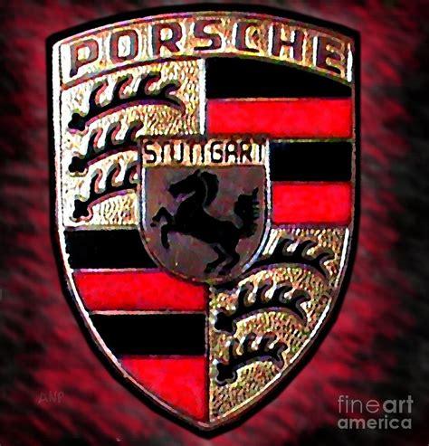 porsche usa emblem porsche emblem by george pedro