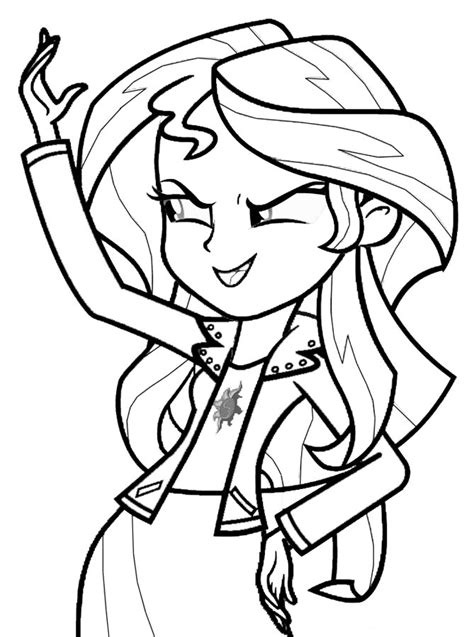 coloring page sunset shimmer my little pony princess sunset shimmer coloring page my