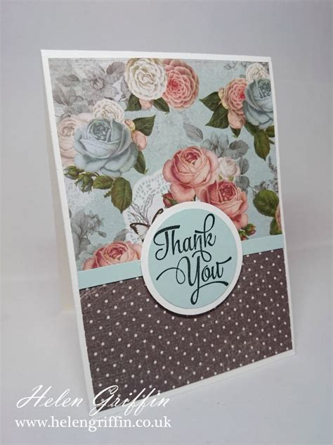 Patterned Paper For Card - thank you card adding patterned paper to cardmaking