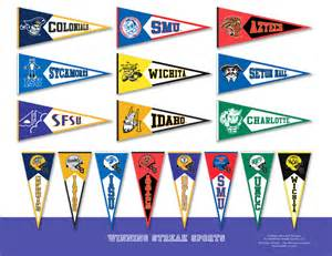 college pennant template 6 best images of free printable college pennants free
