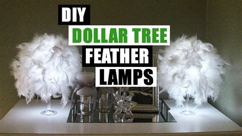 Dollar Tree Home Decor diy dollar glam feather lamps dollar store diy glam lamp