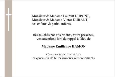 Modele De Lettre De Deuil