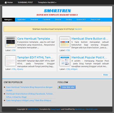 super seo template responsive hack4rt v 3 minimalis