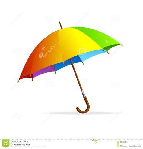 Vector Rainbow Umbrella Isolated Stock Vector