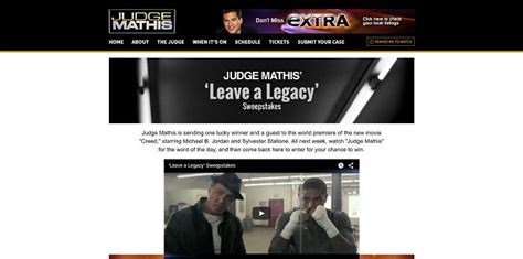 judgemathistv com creed judge mathis leave a legacy sweepstakes - Judge Mathis Sweepstakes