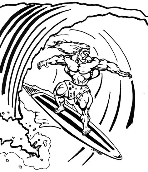 Surfing Coloring Pages surfing coloring pages