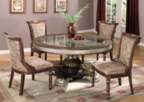 Round Formal Dining Room Sets Adrienne 5pc Dining Room Table Set Traditional Elegant