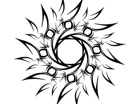 tribal flower or sun by deadlygoalie83 on deviantart