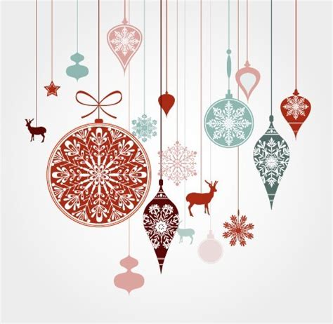 free hanging christmas holiday ornaments vector titanui