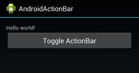 android er android onclick define callback method when android er show and hide actionbar using java code