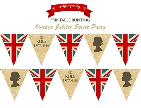 instant download printable british party bunting union