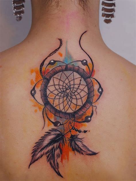 dreamcatcher tattoos on back 23 catcher tattoos